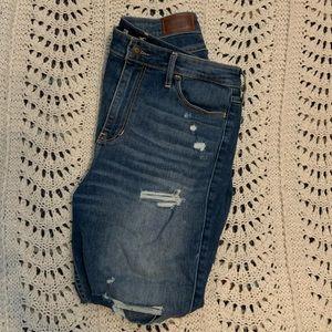Dark wash Hollister destroyed jeans